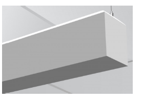 LDL6IA | Suspended Mount Indirect Aluminum LED Luminaire