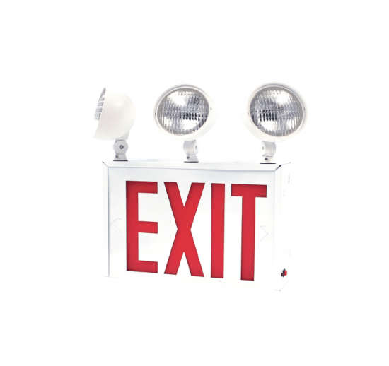 NYXEM6 New York Approved LED Exit & Incandescent Emergency Combo