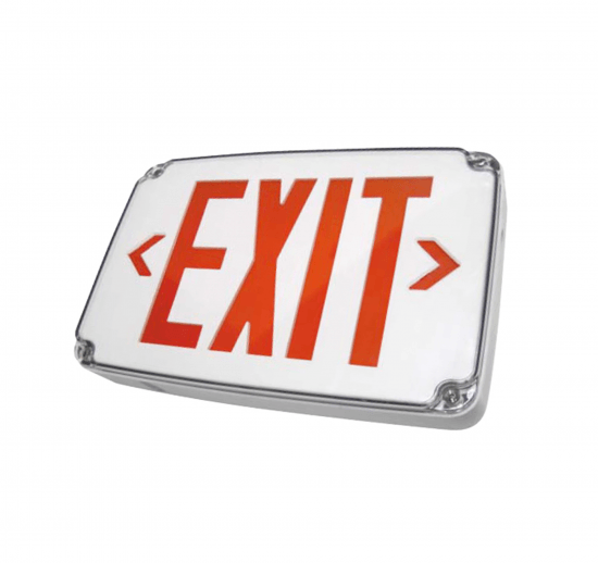 X15WLU Compact Wet Location LED Exit Sign