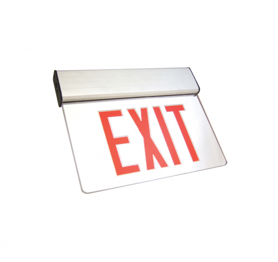 X1U Aluminum LED Edgelit Exit Sign
