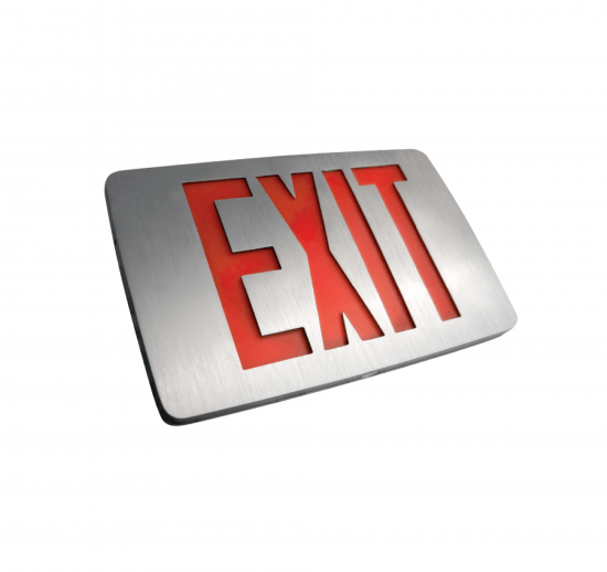 X8 Thin Die-Cast LED Exit Sign