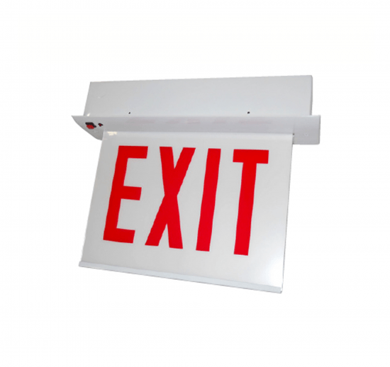 XEM11 Chicago Approved LED Edgelit Exit Signs - Recessed Mount