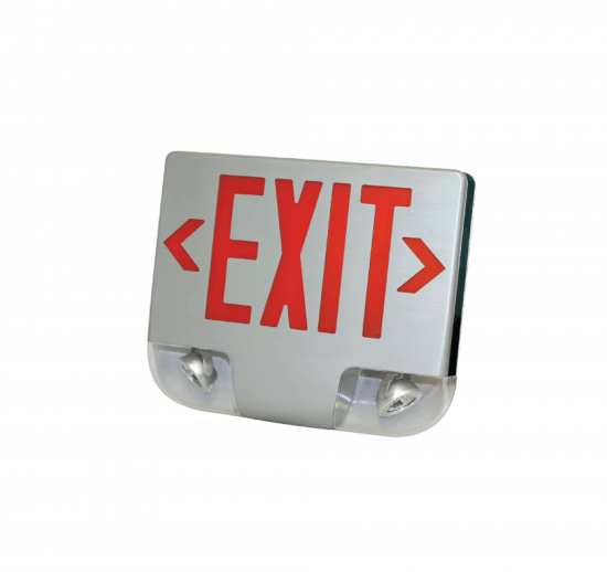 XEM3U Die-Cast Aluminum LED Exit & Emergency Com