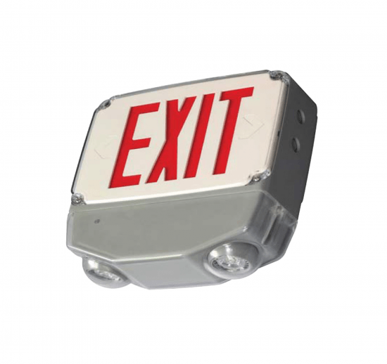 XEM5WLU Wet Location All LED Exit & Emergency Combo