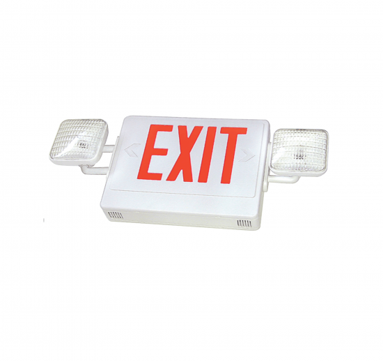 XEM8U LED Exit & Incandescent Emergency Combo