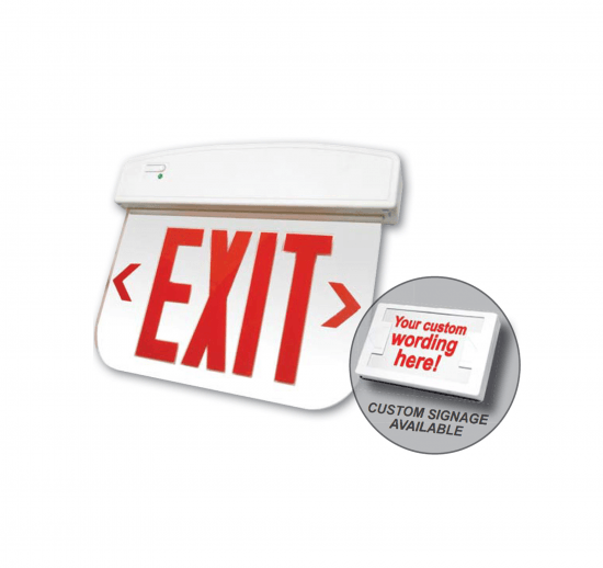 X11U Thermoplastic LED Edgelit Exit Sign