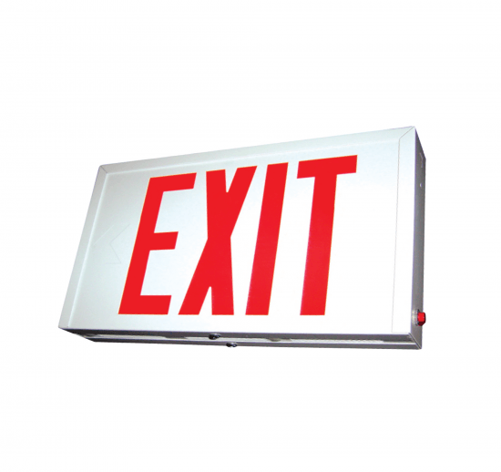X12U Steel LED Exit Sign